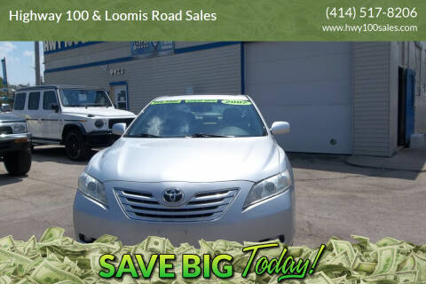2007 Toyota Camry for sale at Highway 100 & Loomis Road Sales in Franklin WI