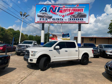 2016 Ford F-150 for sale at ANF AUTO FINANCE in Houston TX