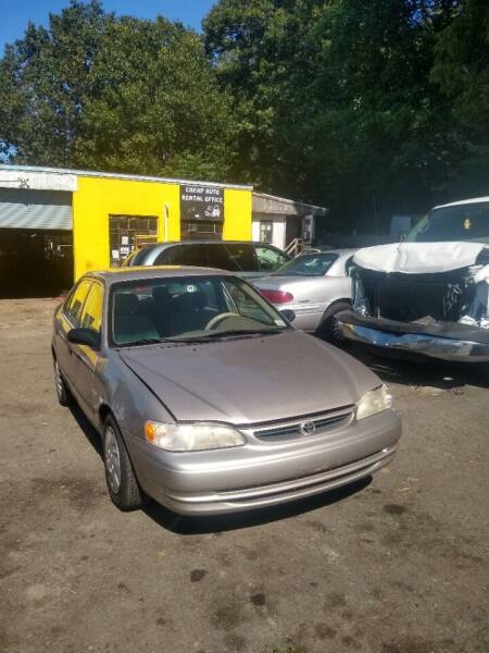 2000 Toyota Corolla for sale at Cheap Auto Rental llc in Wallingford CT