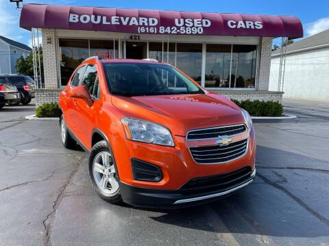 2016 Chevrolet Trax for sale at Boulevard Used Cars in Grand Haven MI
