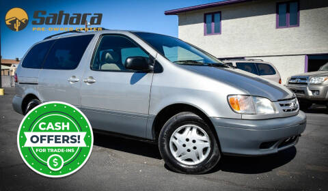 2001 Toyota Sienna for sale at Sahara Pre-Owned Center in Phoenix AZ