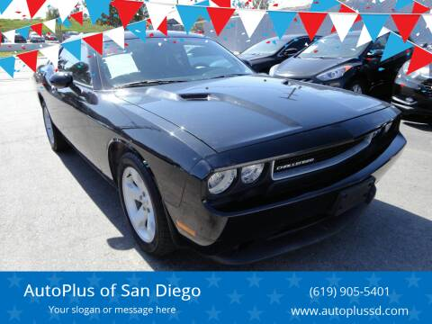 2013 Dodge Challenger for sale at AutoPlus of San Diego in Spring Valley CA