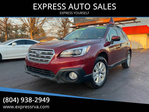 2015 Subaru Outback for sale at EXPRESS AUTO SALES in Midlothian VA