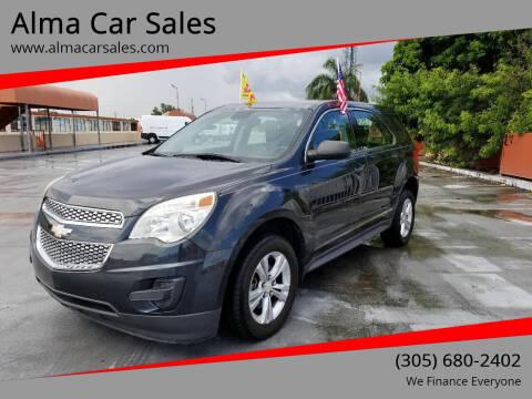 2013 Chevrolet Equinox for sale at Alma Car Sales in Miami FL
