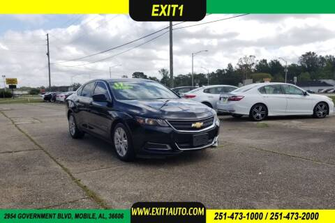 2017 Chevrolet Impala for sale at Exit 1 Auto in Mobile AL