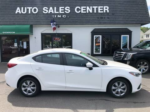 2016 Mazda MAZDA3 for sale at Auto Sales Center Inc in Holyoke MA