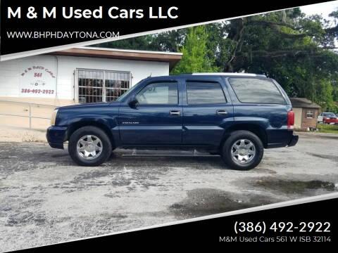 2004 Cadillac Escalade for sale at M & M Used Cars LLC in Daytona Beach FL