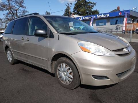 2007 Toyota Sienna for sale at All American Motors in Tacoma WA