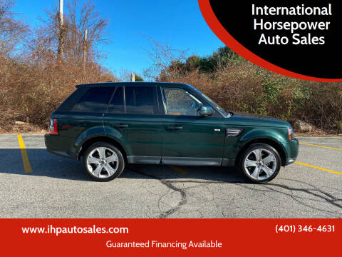 2012 Land Rover Range Rover Sport for sale at International Horsepower Auto Sales in Warwick RI