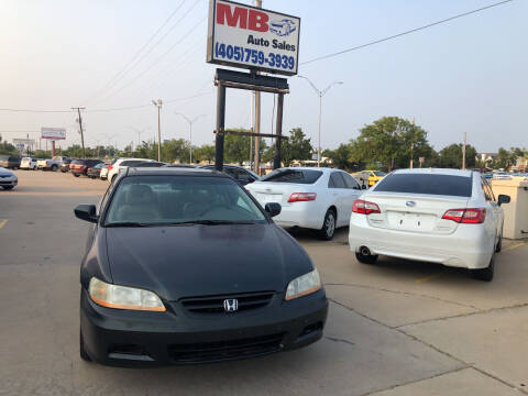 2001 Honda Accord for sale at MB Auto Sales in Oklahoma City OK