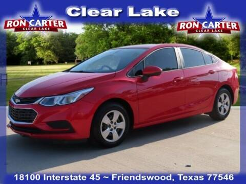 2017 Chevrolet Cruze for sale at Ron Carter  Clear Lake Used Cars in Houston TX