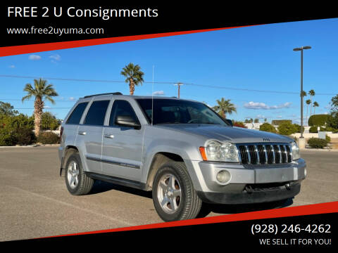 2005 Jeep Grand Cherokee for sale at FREE 2 U Consignments in Yuma AZ