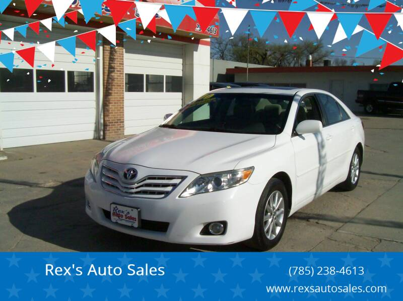 2010 Toyota Camry for sale at Rex's Auto Sales in Junction City KS
