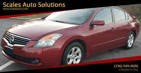 2008 Nissan Altima for sale at Scales Auto Solutions in Madison NC
