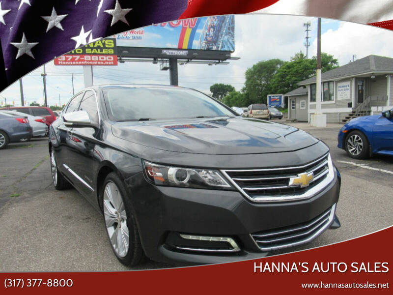 2015 Chevrolet Impala for sale at Hanna's Auto Sales in Indianapolis IN