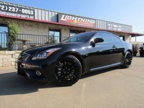 2015 Infiniti Q60 Coupe for sale at Lightning Motorsports in Grand Prairie TX
