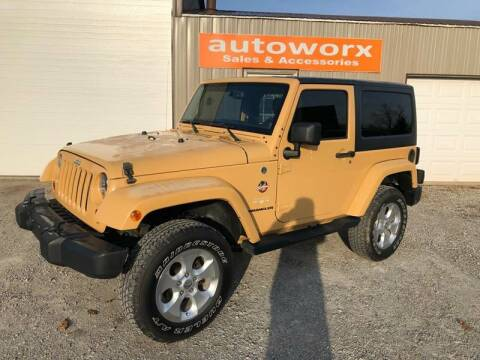 2013 Jeep Wrangler for sale at AutoWorx Sales in Columbia City IN