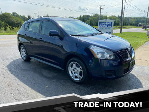 2009 Pontiac Vibe for sale at SIMPSON MOTORS in Youngstown OH