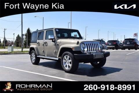 2018 Jeep Wrangler JK Unlimited for sale at BOB ROHRMAN FORT WAYNE TOYOTA in Fort Wayne IN