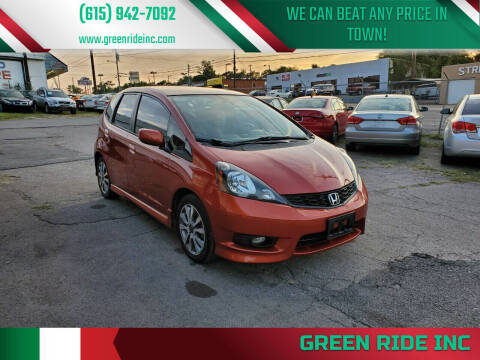 2012 Honda Fit for sale at Green Ride Inc in Nashville TN