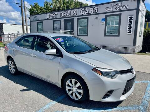 2015 Toyota Corolla for sale at Best Deals Cars Inc in Fort Myers FL