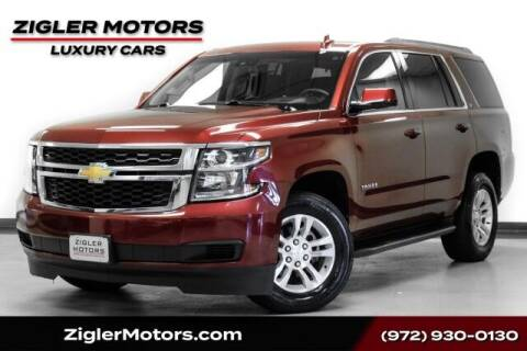 2019 Chevrolet Tahoe for sale at Zigler Motors in Addison TX