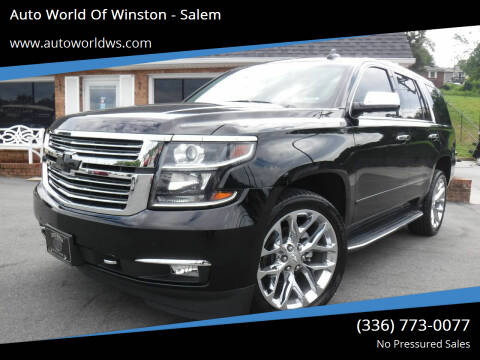 2017 Chevrolet Tahoe for sale at Auto World Of Winston - Salem in Winston Salem NC
