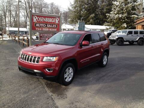 2015 Jeep Grand Cherokee for sale at Rosenberger Auto Sales LLC in Markleysburg PA
