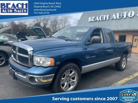 2005 Dodge Ram Pickup 1500 for sale at Beach Auto Sales in Virginia Beach VA