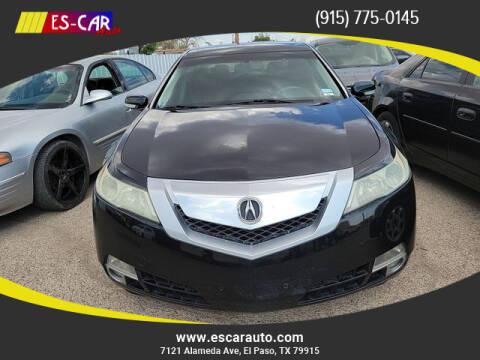 2010 Acura TL for sale at Escar Auto in El Paso TX
