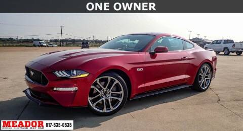 2019 Ford Mustang for sale at Meador Dodge Chrysler Jeep RAM in Fort Worth TX