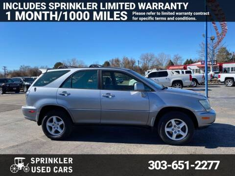 2003 Lexus RX 300 for sale at Sprinkler Used Cars in Longmont CO