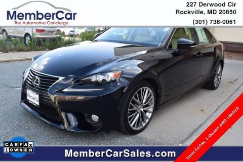 2014 Lexus IS 250 for sale at MemberCar in Rockville MD