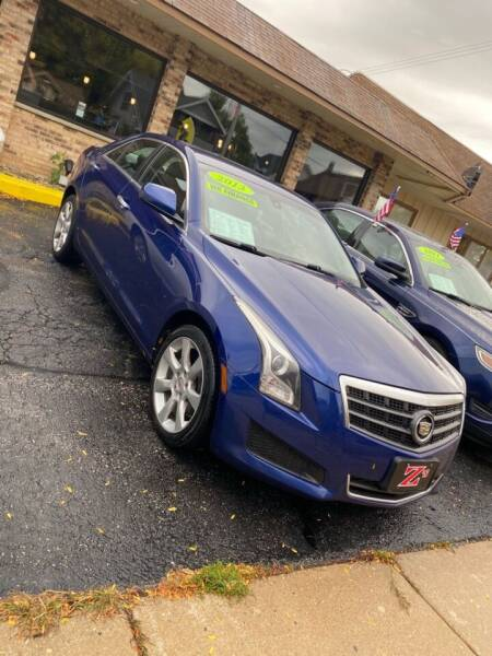 2013 Cadillac ATS for sale at Zs Auto Sales in Kenosha WI