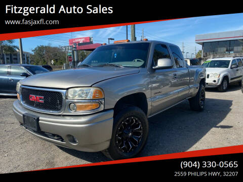 2002 GMC Sierra 1500 for sale at Fitzgerald Auto Sales in Jacksonville FL