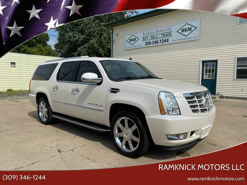 2013 Cadillac Escalade ESV for sale at RamKnick Motors LLC in Pekin IL