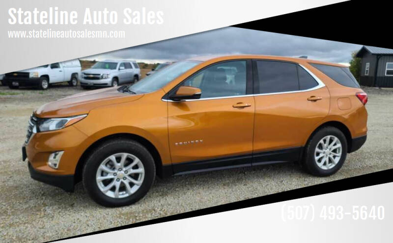2018 Chevrolet Equinox for sale at Stateline Auto Sales in Mabel MN