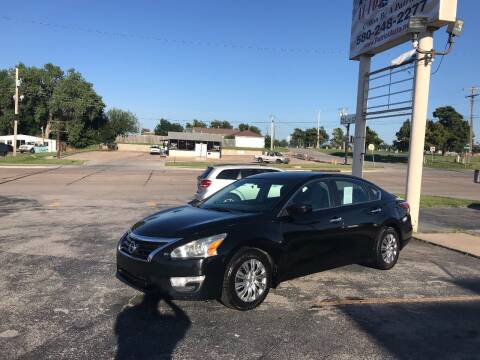 2014 Nissan Altima for sale at Patriot Auto Sales in Lawton OK