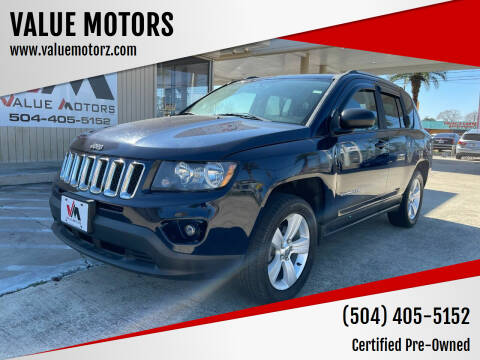 2016 Jeep Compass for sale at VALUE MOTORS in Kenner LA