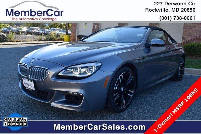 2016 BMW 6 Series for sale at MemberCar in Rockville MD