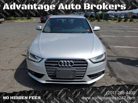 2013 Audi A4 for sale at Advantage Auto Brokers in Hasbrouck Heights NJ