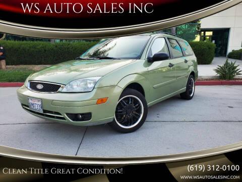 2007 Ford Focus for sale at WS AUTO SALES INC in El Cajon CA