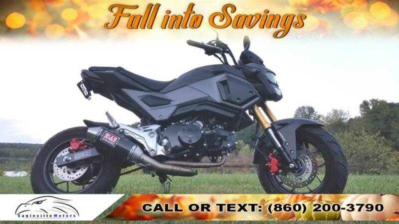 2018 Honda Grom for sale at EAGLEVILLE MOTORS LLC in Storrs Mansfield CT