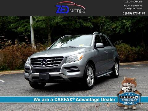 2014 Mercedes-Benz M-Class for sale at Zed Motors in Raleigh NC