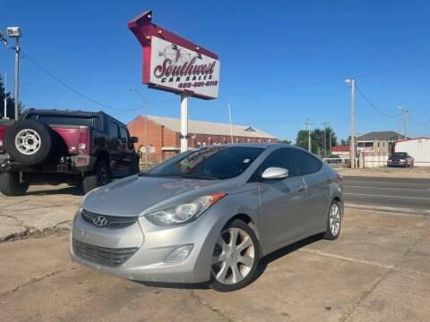 2013 Hyundai Elantra for sale at Southwest Car Sales in Oklahoma City OK