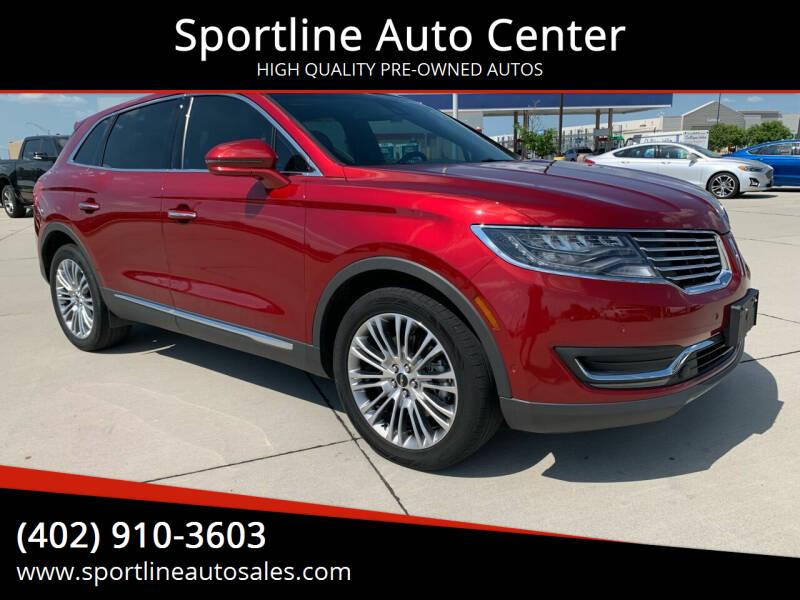 2017 Lincoln MKX for sale at Sportline Auto Center in Columbus NE