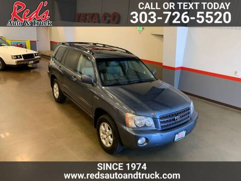 2002 Toyota Highlander for sale at Red's Auto and Truck in Longmont CO