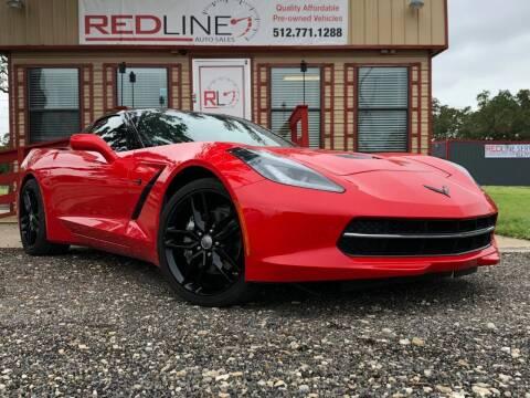 2015 Chevrolet Corvette for sale at REDLINE AUTO SALES LLC in Cedar Creek TX
