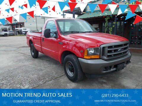 2001 Ford F-250 Super Duty for sale at MOTION TREND AUTO SALES in Tomball TX