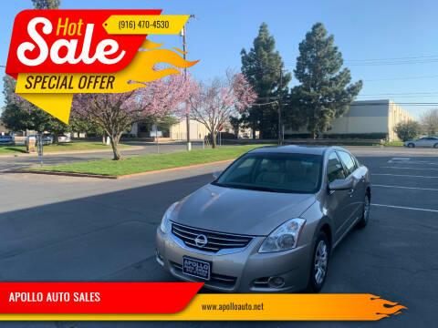 2012 Nissan Altima for sale at APOLLO AUTO SALES in Sacramento CA